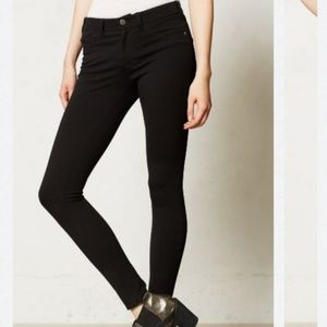 Pilcro Anthropologie Serif Ponte Leggings Black 29